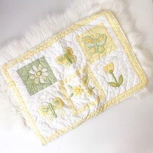 PB Kids Quilted Butterfly Flower Pillow Case Sham